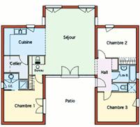 plan maison arcadie